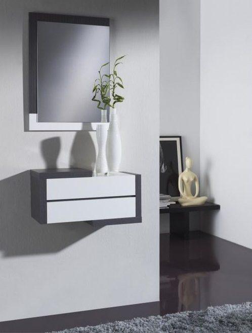 Muebles recibidores modernos fbrica de muebles en sonseca for Espejos originales recibidor